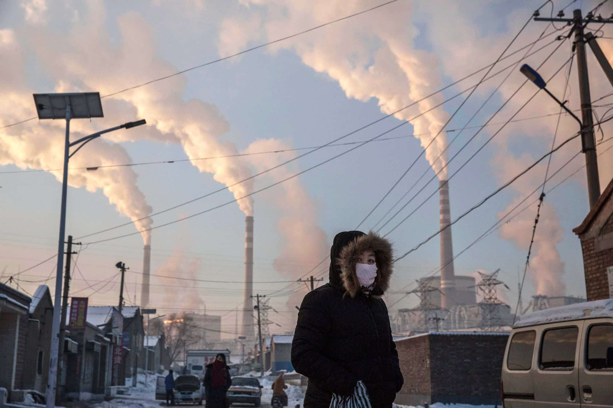 Smoke billows from a coal plant in Shanxi, China, in November 2015. The country has battled to reduce emissions but remains heavily dependent on coal.