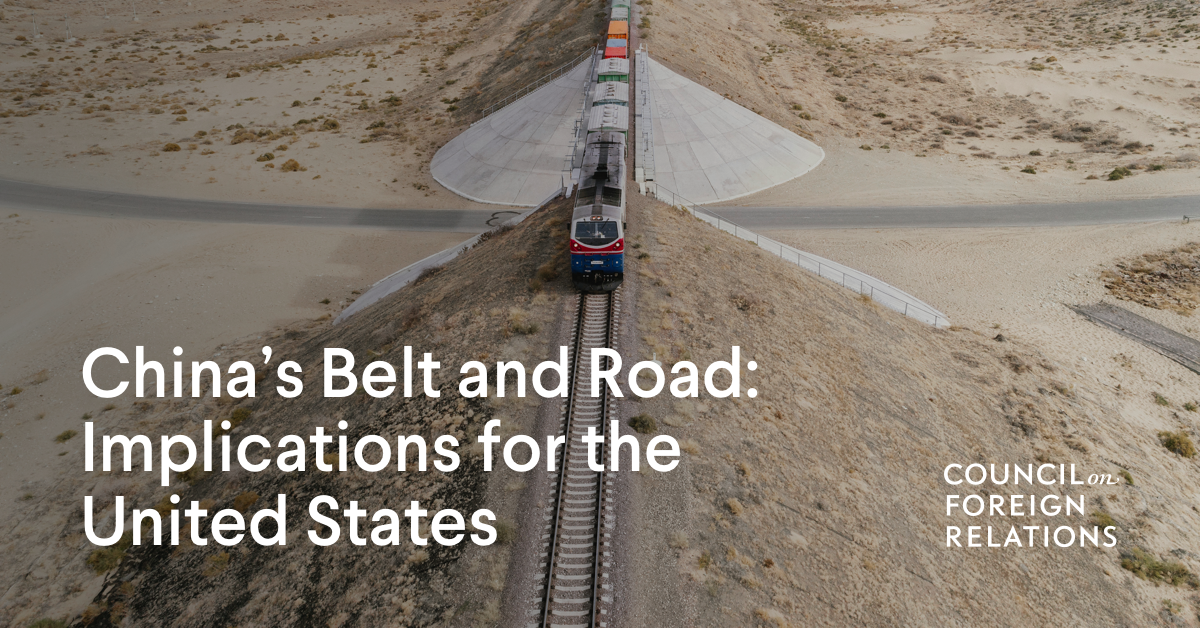 How the U.S. Should Respond to China's Belt and Road