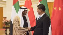 Sheikh Mohammed bin Zayed al-Nahyan (L), Crown Prince of Abu Dhabi and UAE's deputy commander-in-chief of the armed forces shakes hands with Chinese President Xi Jinping (R) at the Great Hall of the People, Beijing, December 14, 2015