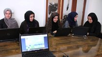 Afghan coders practice at a computer training center in Herat, Afghanistan.