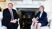 U.S. Secretary of State Mike Pompeo meets with Britain's Prime Minister Theresa May at 10 Downing Street in London, Britain May 8, 2019.