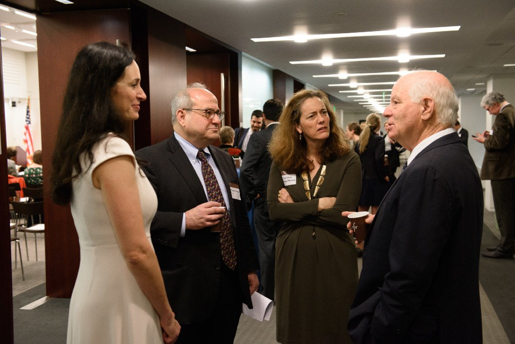 Ben Cardin and Shannon O'Neil speak with participants