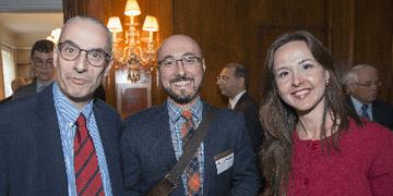 Robert Dujarric (2003-2004 IAF in Japan) with Irina Angelescu (2017-2018 IAF in Japan)